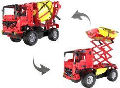 Stavební stroje na dálkové ovládání 2 v 1 - Auto s rampou  - Poškozený obal