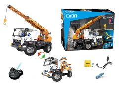 Stavební stroje na dálkové ovládání 2 v 1 Autojeřáb - Odtahovka