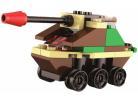 Stavebnice Armáda s LED kostkou 2v1 - Tank 2