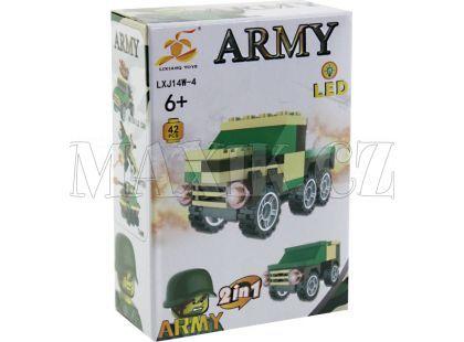 Stavebnice Armáda s LED kostkou 2v1 - Army