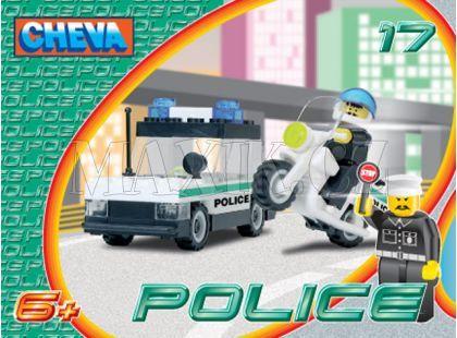 Stavebnice Cheva 17 Policejní hlídka 53ks