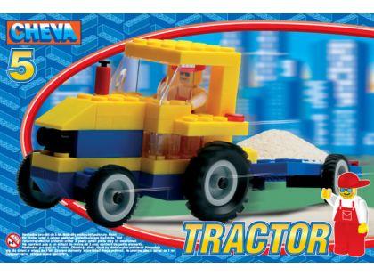 Stavebnice Cheva 5 Traktor s vlekem 84ks