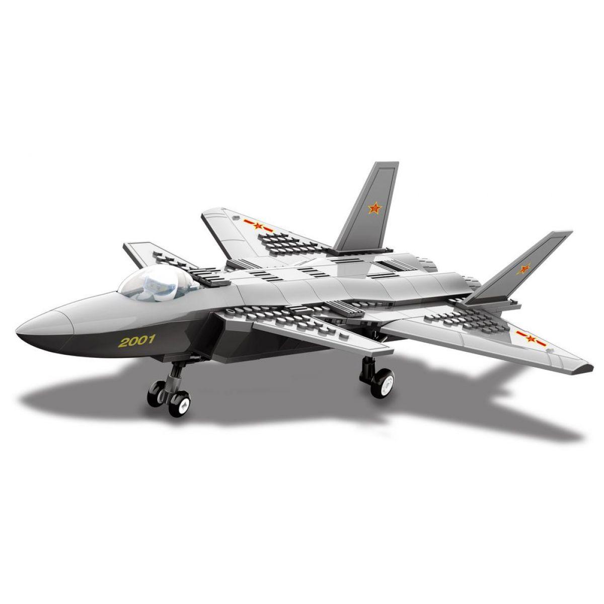 Stavebnice J20 Heavy Stealth Fighter 296 dílků