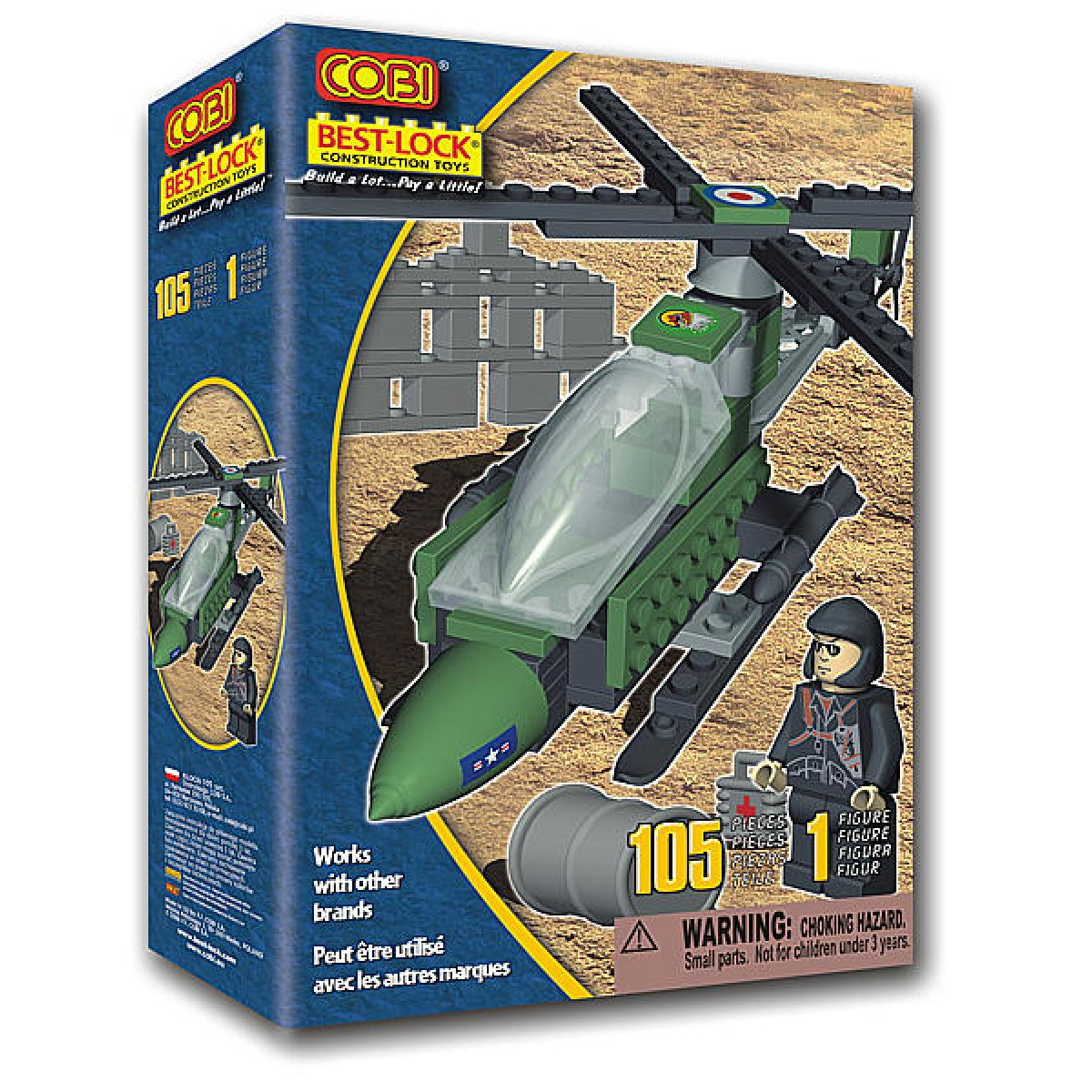Stavebnice letecká mise 105ks Cobi