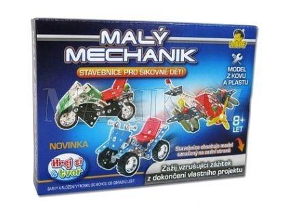 Stavebnice Malý mechanik dopravní prostředky 6 druhů 22 cm