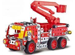 Stavebnice Malý mechanik hasičské auto s plošinou 328 ks
