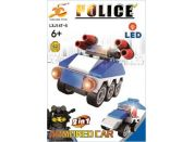 Stavebnice Policie s LED kostkou 2v1 - Armored Car
