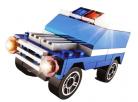 Stavebnice Policie s LED kostkou 2v1 - SUVS 2