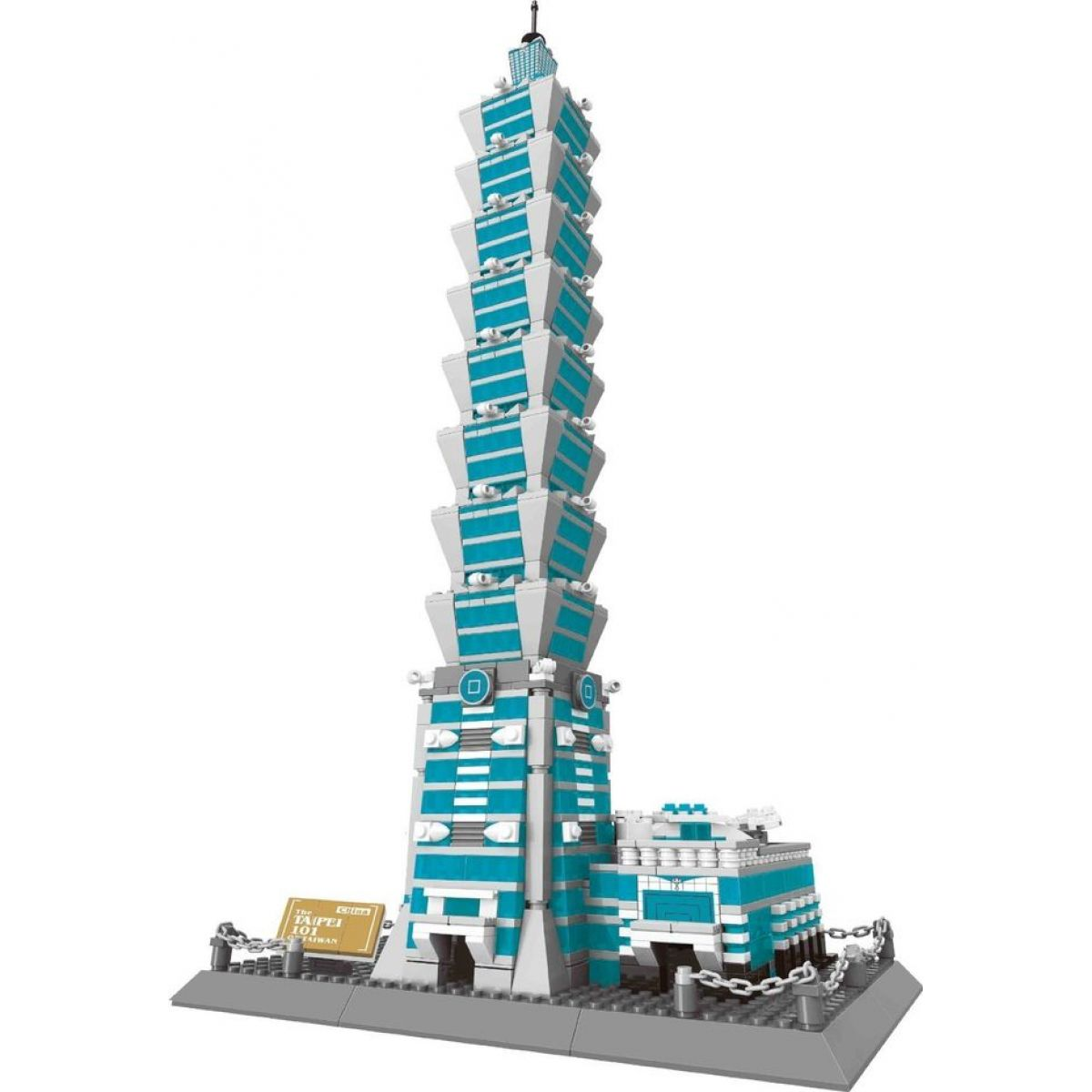 Stavebnice Tchaj-Pej 101 mrakodrap 1511 dílků