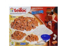 Stavebnice Teifoc Velká sada cihliček+ malta 280ks