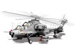 Stavebnice WZ-10 Gunship bitevní vrtulník 296 dílků