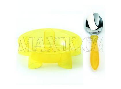 Steady talíř hluboký & lžíce Yellow