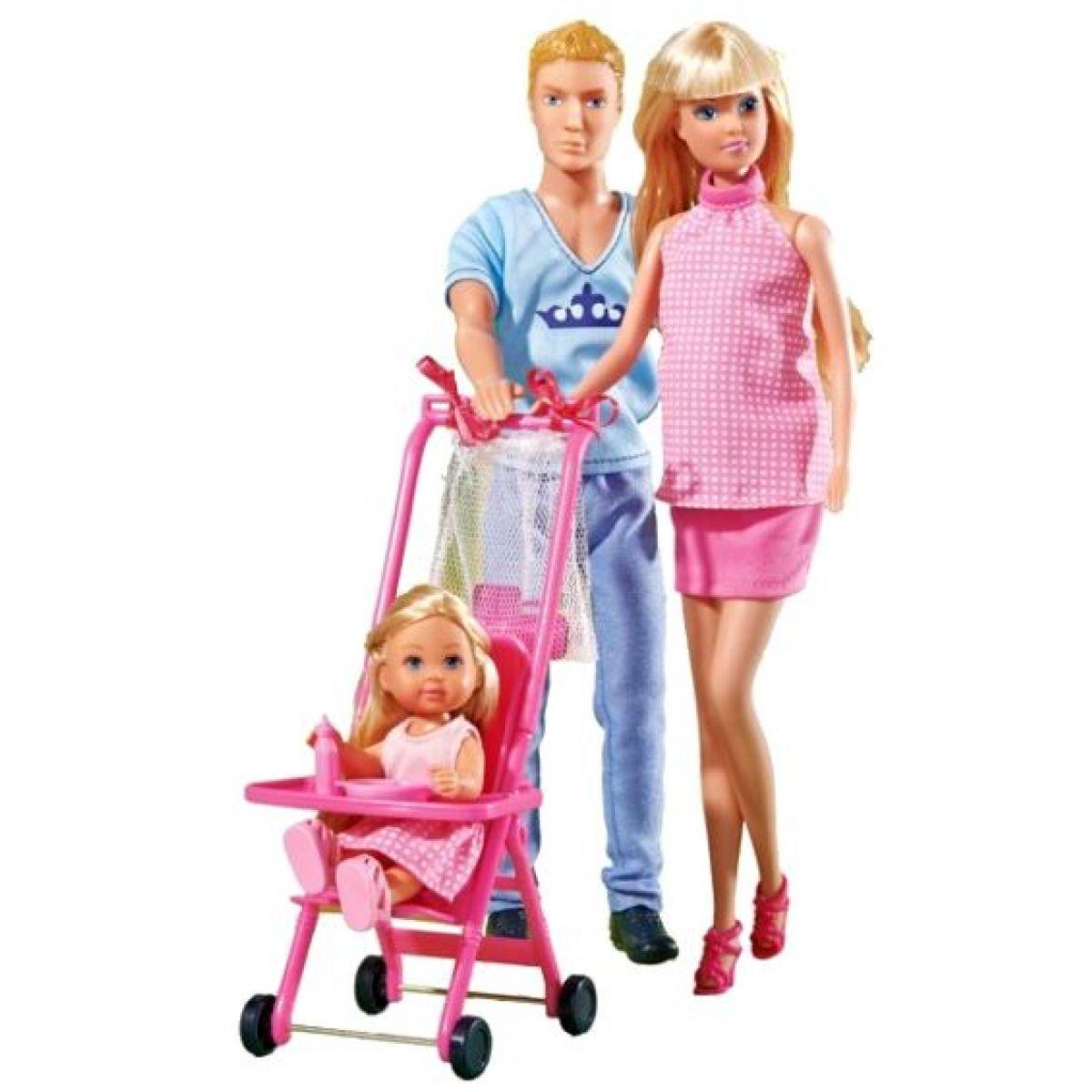 Steffi Love Šťastná rodina těhotná panenka a Kevin