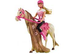 Steffi Love Panenka s koněm s hnědou hřívou