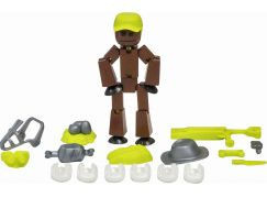 Stikbot action pack figurka s doplňky hnědý s kšiltovkou