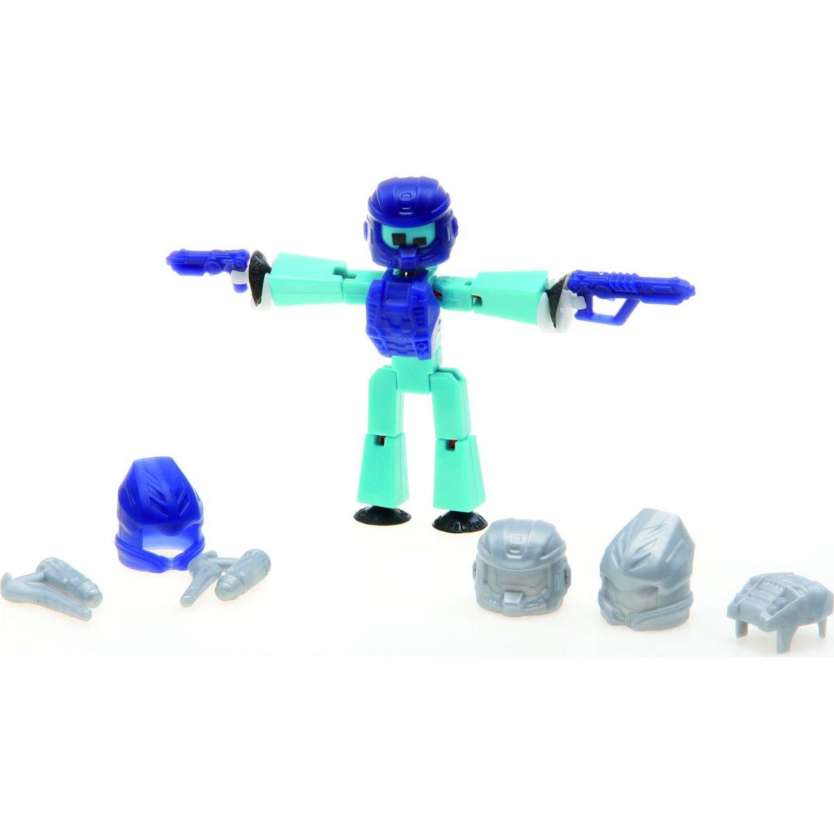 Stikbot action pack figurka s doplňky tyrkysový s helmou