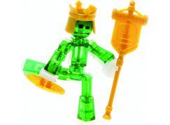 Stikbot action pack figurka s doplňky zelený s korunou