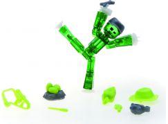 Stikbot action pack figurka s doplňky zelený s kšiltovkou