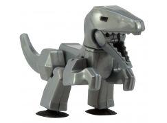 StikBot dino Velociraptor šedý