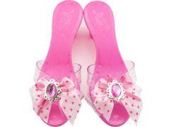 Střevíčky pro princeznu plastové 18cm růžové
