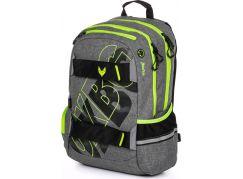 Karton P+P Studentský batoh Oxy Sport Grey Line green
