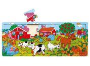Studo Wood Deskové puzzle farma 21d