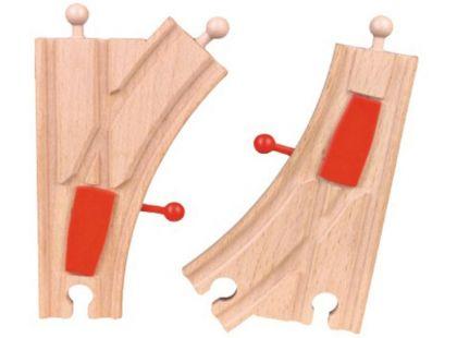 Studo Wood Kolej mechanická výhybka 2ks