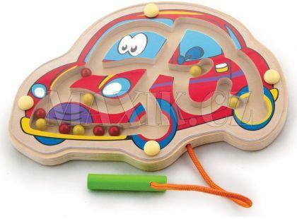 Studo Wood Magnetické bludiště auto