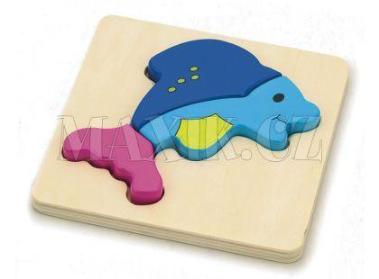 Studo Wood Puzzle Delfín