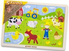 Studo Wood Puzzle farma 24 ks