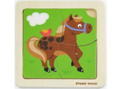 Studo Wood Puzzle kůň