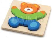 Studo Wood Puzzle medvěd