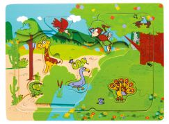 Studo Wood Puzzle multi-zoo
