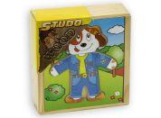 Studo Wood Puzzle Šatní skříň pejska