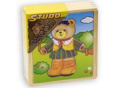 Studo Wood Šatní skříň medvědí slečna