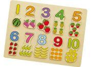 Studo Wood Vkládačka čísla a ovoce