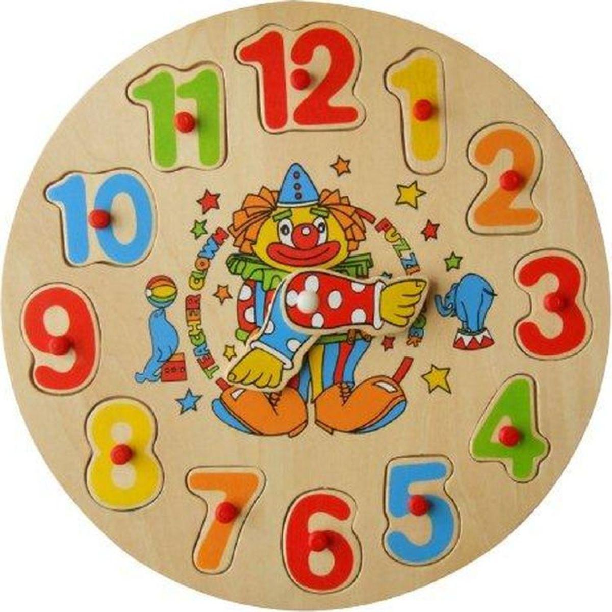 Studo Wood Vkládačka hodiny - Klaun