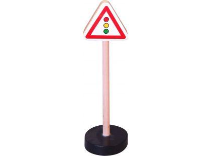 Studo Wood Značka - pozor semafor