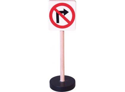 Studo Wood Značka - zákaz odbočení vpravo