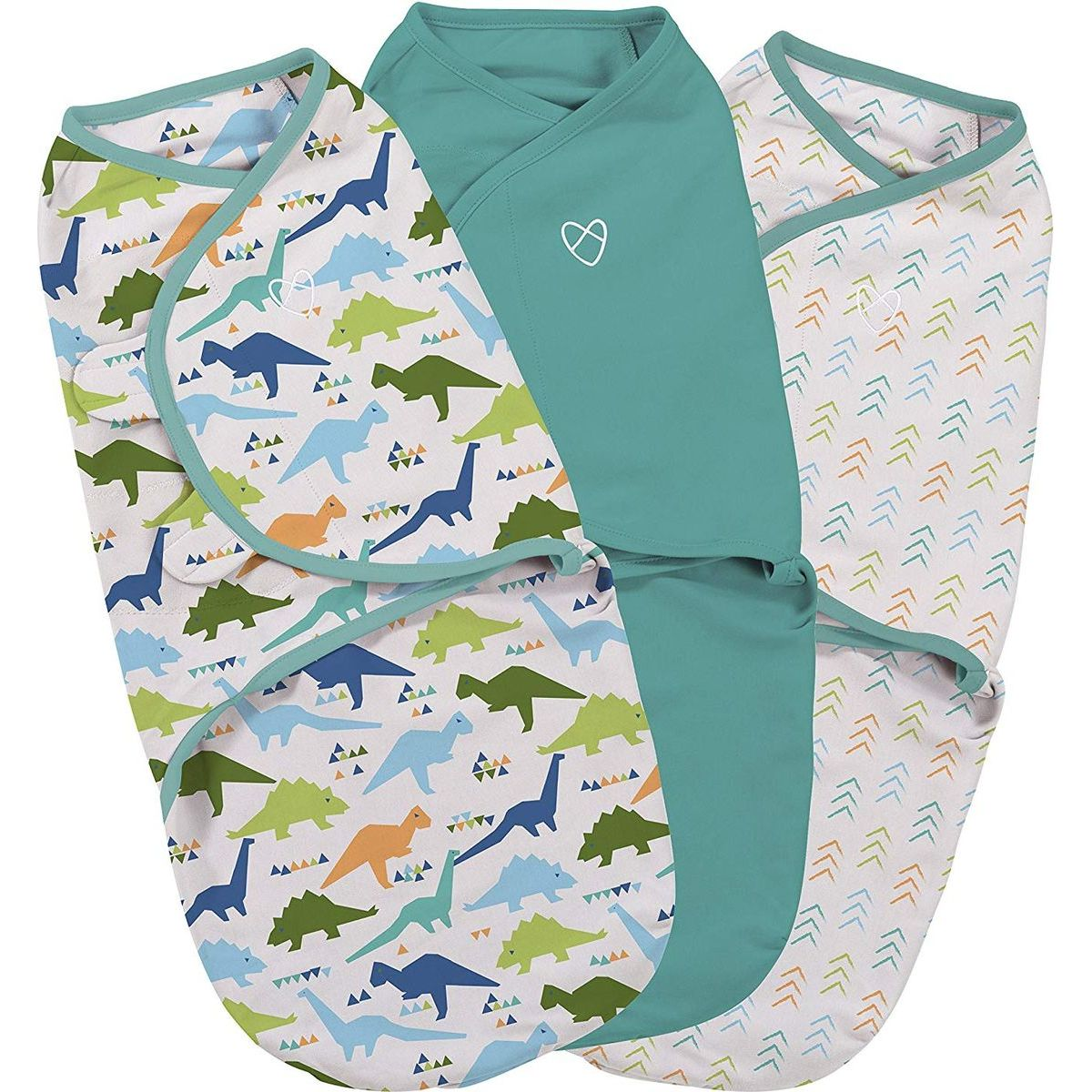 Summer Infant Zavinovačka SwaddleMe dinosaurus sada 3ks