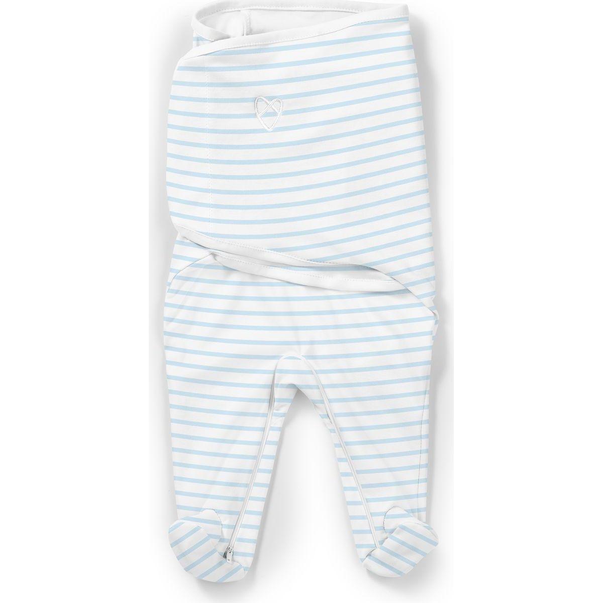 Summer Infant Zavinovačka SwaddleMe Footsie modrý proužek