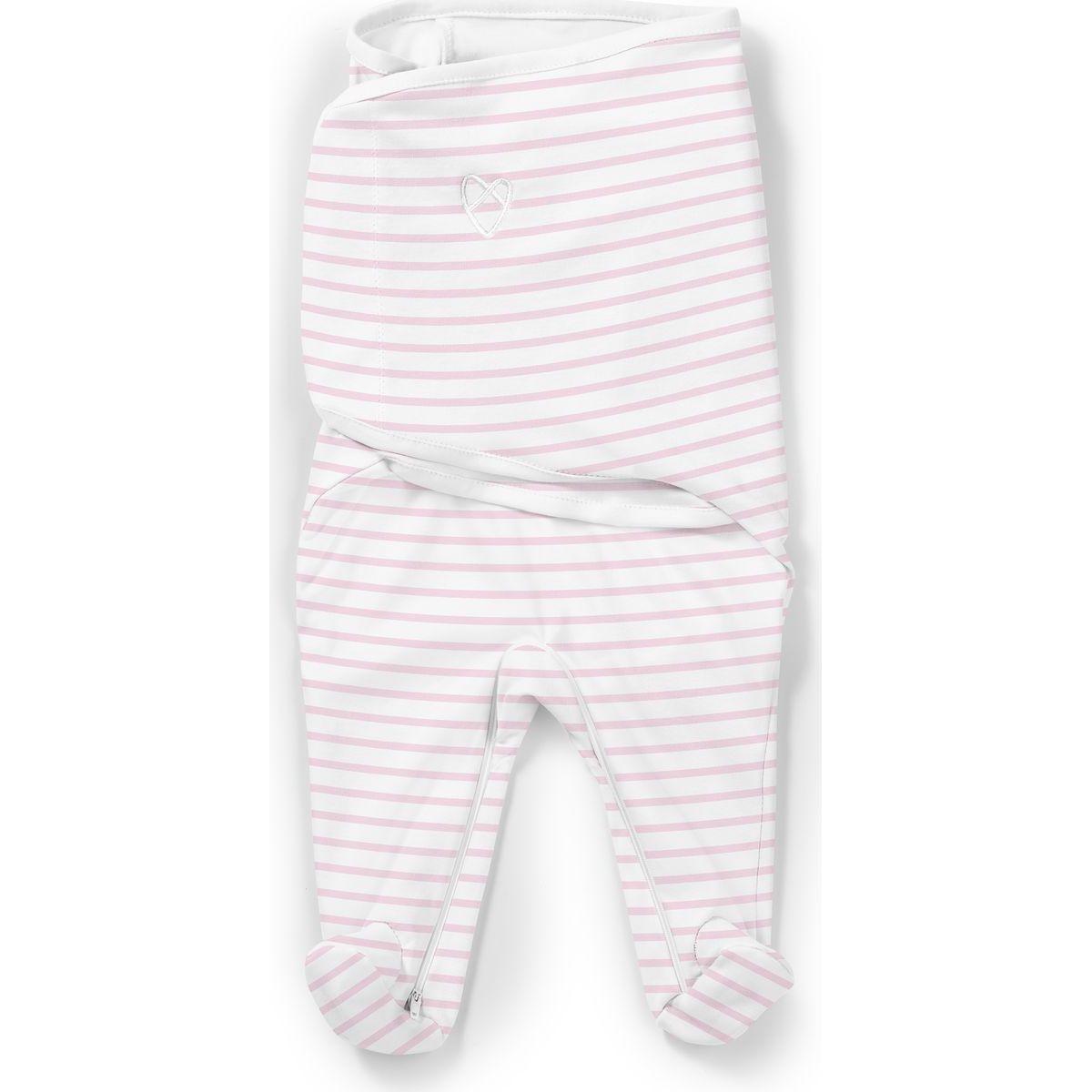 Summer Infant Zavinovačka SwaddleMe Footsie růžový proužek