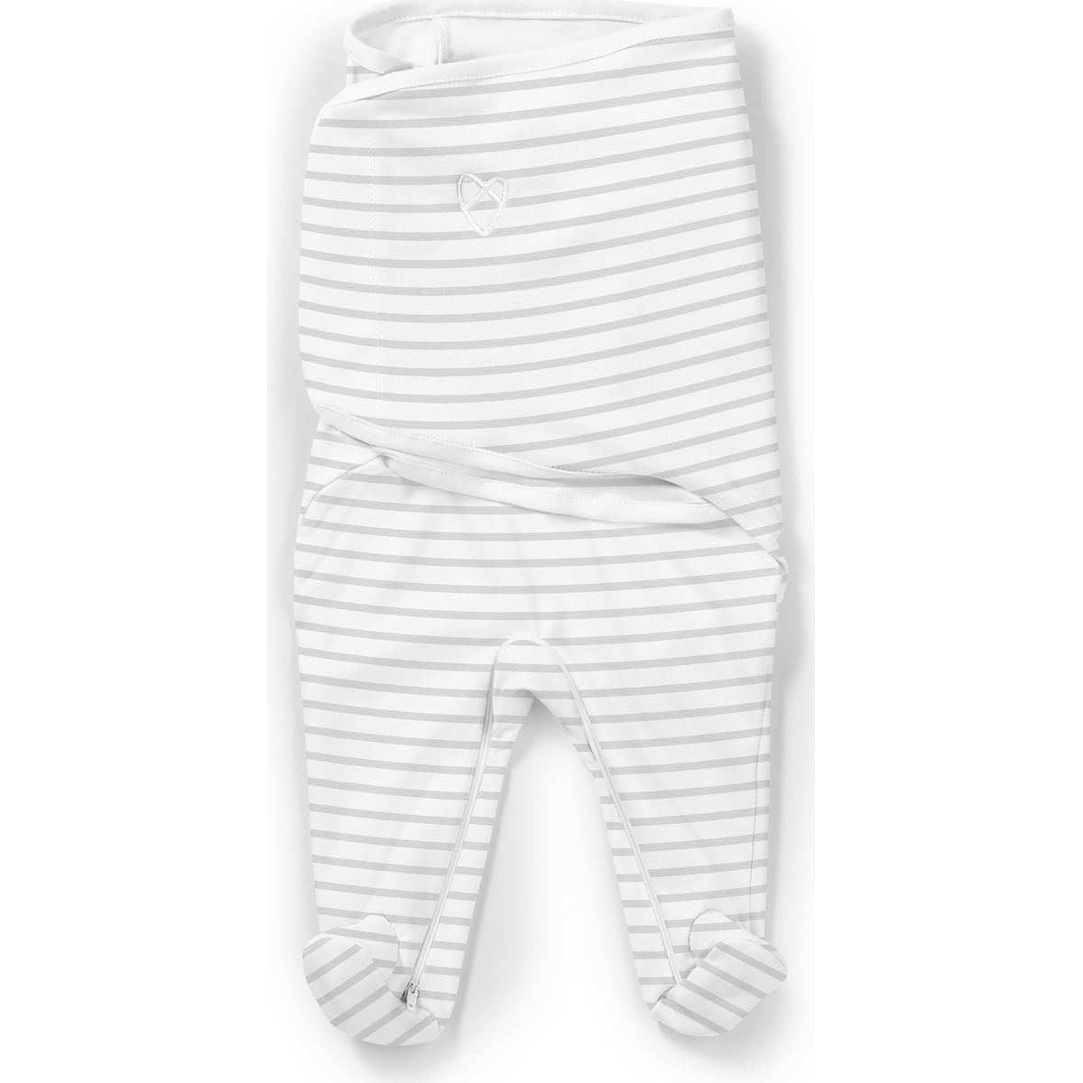 Summer Infant Zavinovačka SwaddleMe Footsie šedý proužek