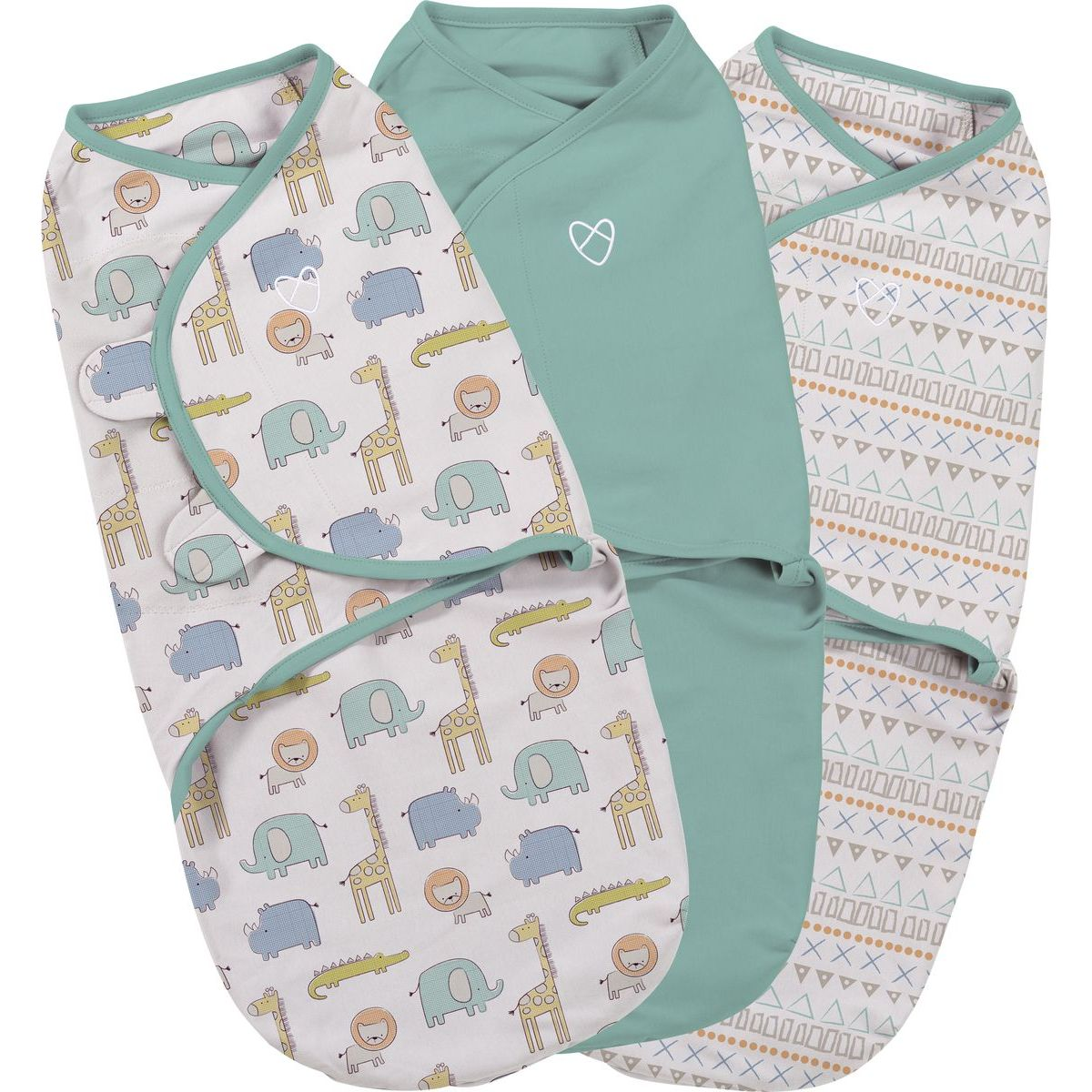 Summer Infant Zavinovačka SwaddleMe safari sada 3ks