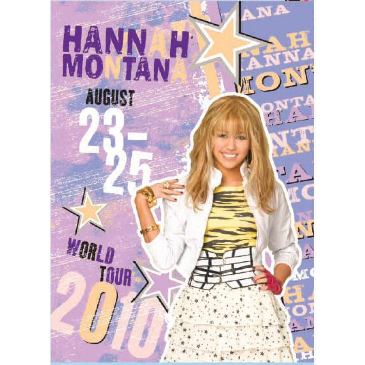 Sun Ce Hannah Montana Neprůhledný obal s linkovaným sešitem 40 listů