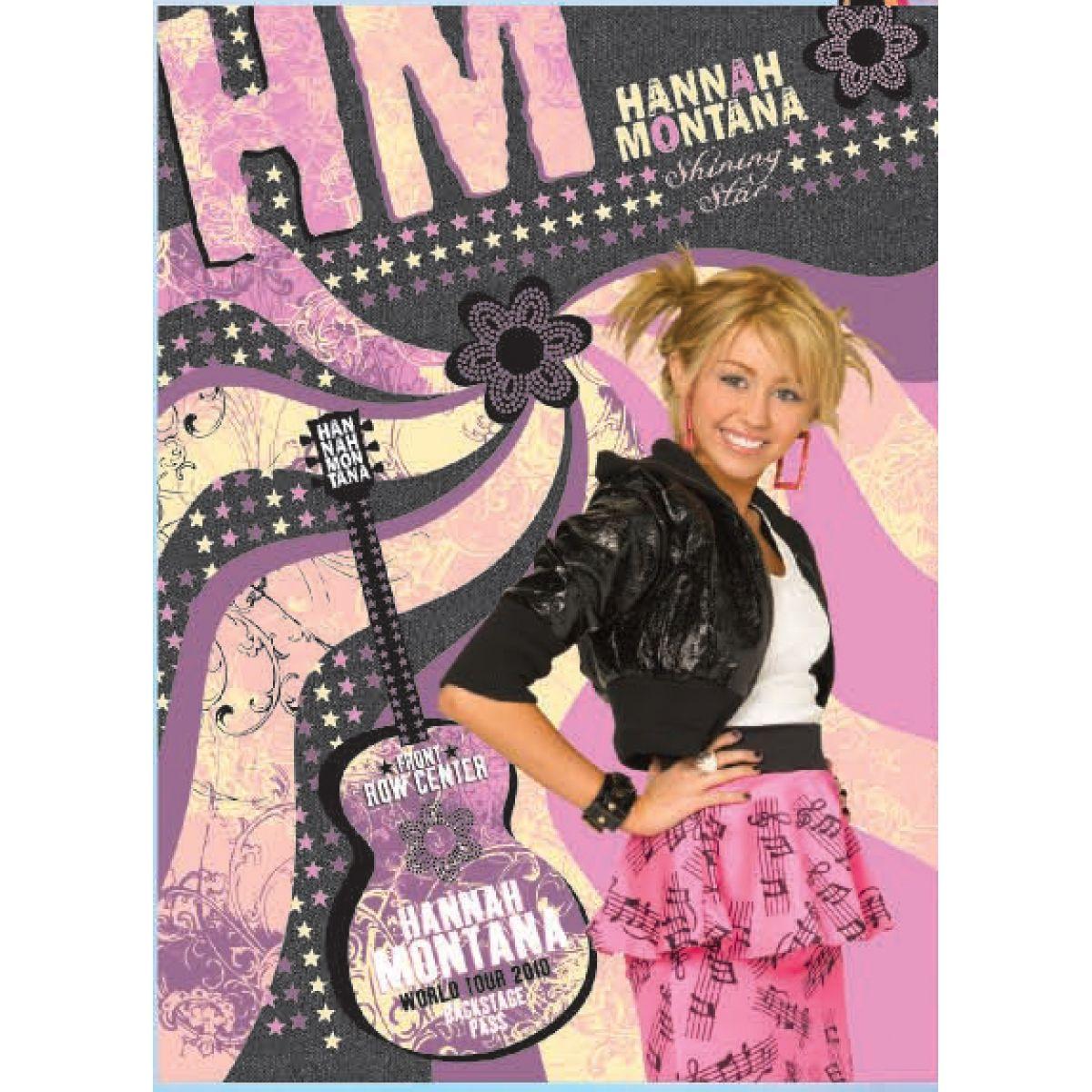 Sun Ce Hannah Montana Neprůhledný obal s linkovaným sešitem 60 listů