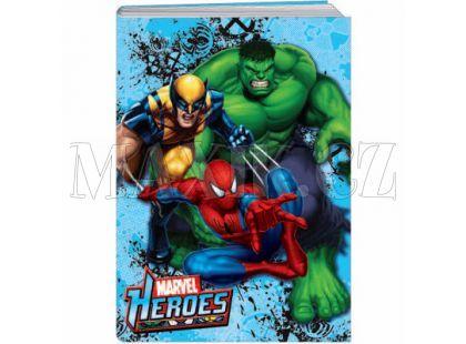 Sun Ce Marvel Heroes  Školní sešit s obalem 40 listů