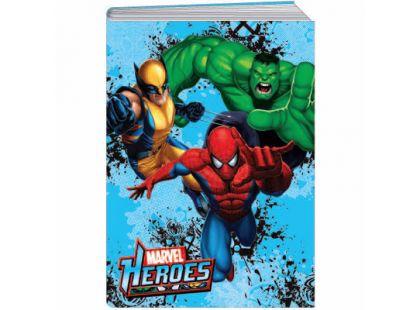 Sun Ce Marvel Heroes Školní sešit s obalem 60 listů