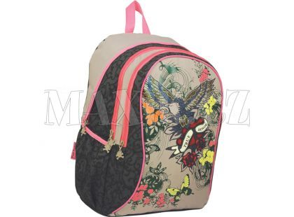 Sun Ce Pink Cookie Velký školní batoh