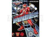 Sun Ce Power Rangers Neprůhledný obal s linkovaným sešitem 40 listů